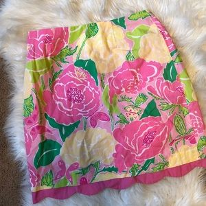 Lilly Pulitzer kids 14 scalloped skirt roses